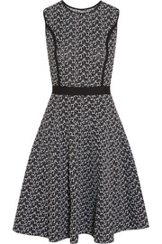 Jacquard-knit dress