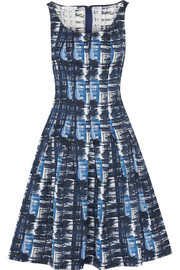 Oscar de la Renta Pleated jacquard dress