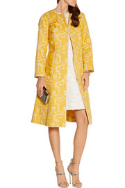 Oscar de la Renta Embellished cotton-blend tweed coat