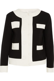 Two-tone crepe jacket