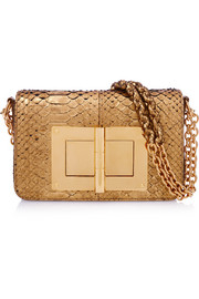 Tom Ford Natalia medium metallic python shoulder bag