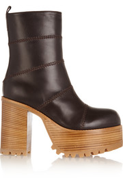 Marni Paneled leather platform boots