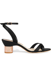 Belle Crystal embellished satin sandals