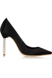 Sophia Webster Coco Crystal embellished satin pumps