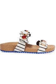 Becky Gem Nautical embellished leather sandals