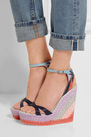 Lucita Malibu leather wedge sandals