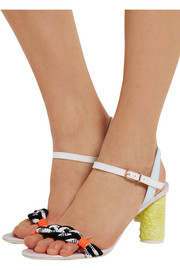 Sophia Webster Atlanta Pastel leather and rope sandals