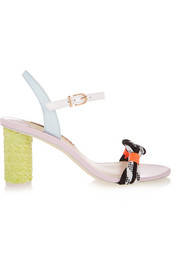 Atlanta Pastel leather and rope sandals