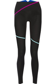 Lazer Stripe stretch-jersey leggings