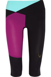 Color-block stretch capri leggings