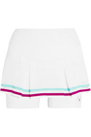 Lucas Hugh Pixel mesh-paneled stretch-jersey shorts
