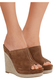 Charlize suede wedge sandals