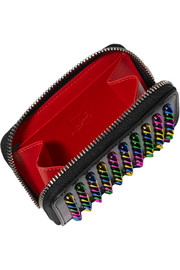 Christian Louboutin Panettone spiked patent-leather wallet