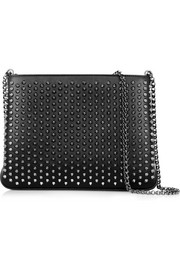 Triloubi spiked leather shoulder bag