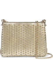 Christian Louboutin Triloubi medium spiked textured-leather shoulder bag