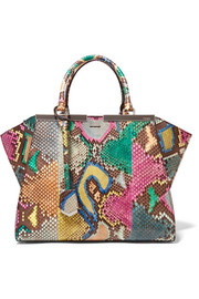 Fendi 3Jours medium python and leather tote