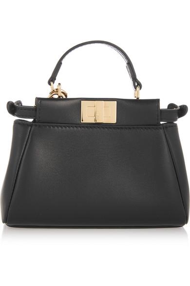 276aafc21ca Fendi. Peekaboo micro leather shoulder bag