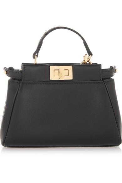 a9d5604b2f89 ... where to buy fendi. peekaboo micro leather shoulder bag.