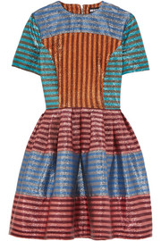 House of Holland Martini striped lamé mini dress
