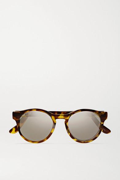 Hey Macarena Round-Frame Acetate Sunglasses, Tortoiseshell