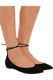 Gianvito Rossi Suede point-toe flats