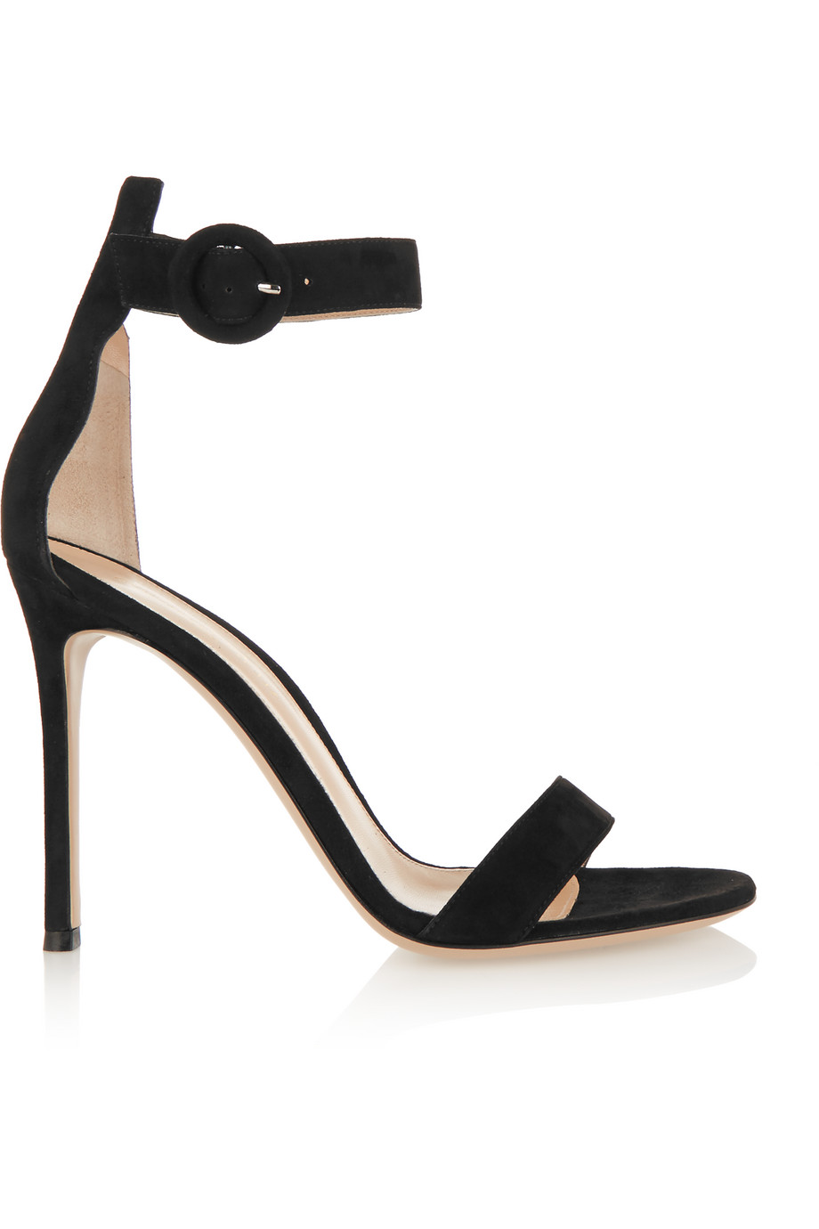 Gianvito Rossi Suede Sandals, Black, Women's US Size: 6.5, Size: 37