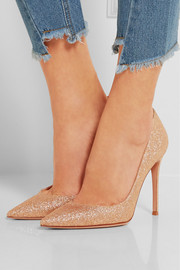 Gianvito Rossi Glittered leather pumps