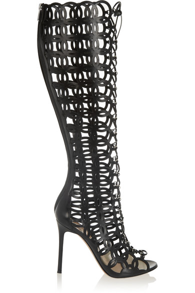 release dates online Gianvito Rossi Leather Cutout Sandals cheap collections limited edition online JpD4xp