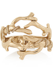 Gold-plated crystal cuff