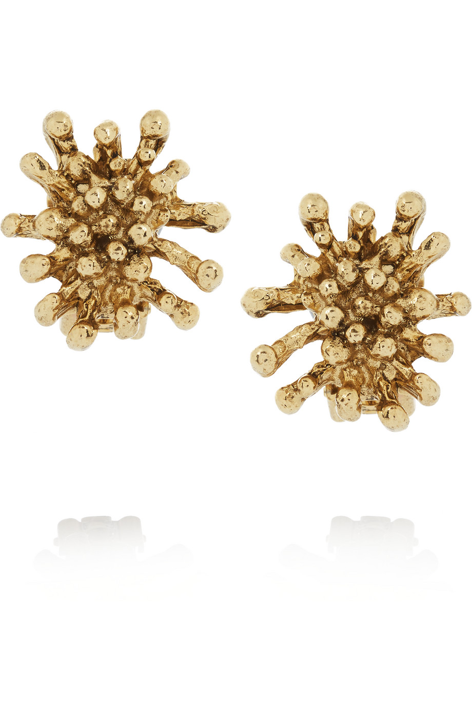 Oscar De La Renta Gold-Plated Clip Earrings, Women's