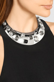 Silver-plated Swarovski crystal necklace
