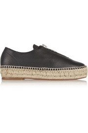 Alexander Wang Devon textured-leather espadrilles