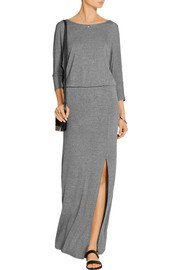 Splendid Draped-back stretch-jersey maxi dress