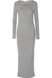 James Perse Ruched cotton-blend jersey dress