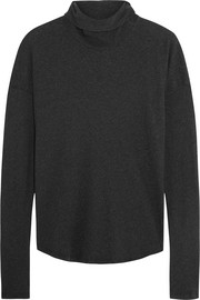 Cotton-jersey turtleneck top