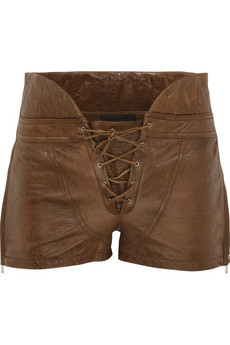 Alexander Wang Leather corset shorts