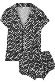 Sleep Chic printed stretch-jersey pajama set