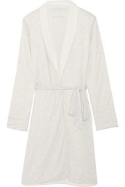 Alpine reversible mélange jersey and fleece robe