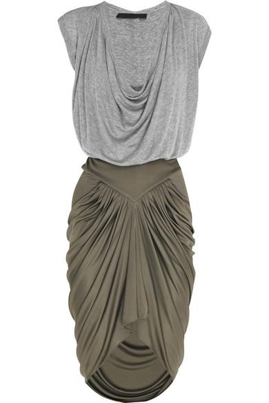 jersey image roxane isabel drapes in of etoile product faded draped fwrd etoi black marant dress