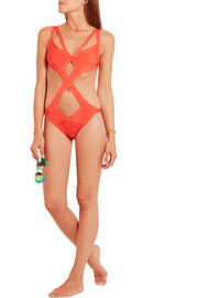 Cutout bandage swimsuit