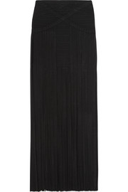 Fringed bandage maxi skirt