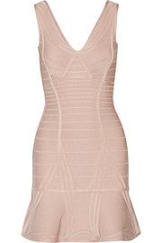 Nadja paneled bandage mini dress