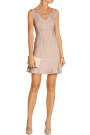 Hervé Léger Nadja paneled bandage mini dress