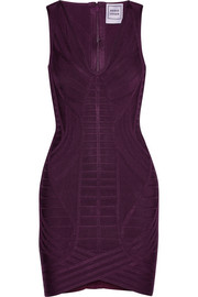 Naeva paneled bandage mini dress