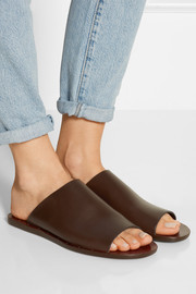 Romy leather slides