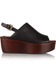 See by Chloé Leather slingback platform sandals