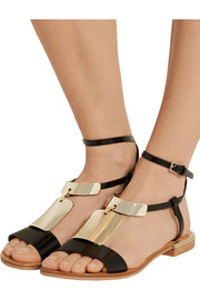 See by Chloé Anita embellished leather T-bar sandals