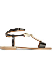 Anita embellished leather T-bar sandals