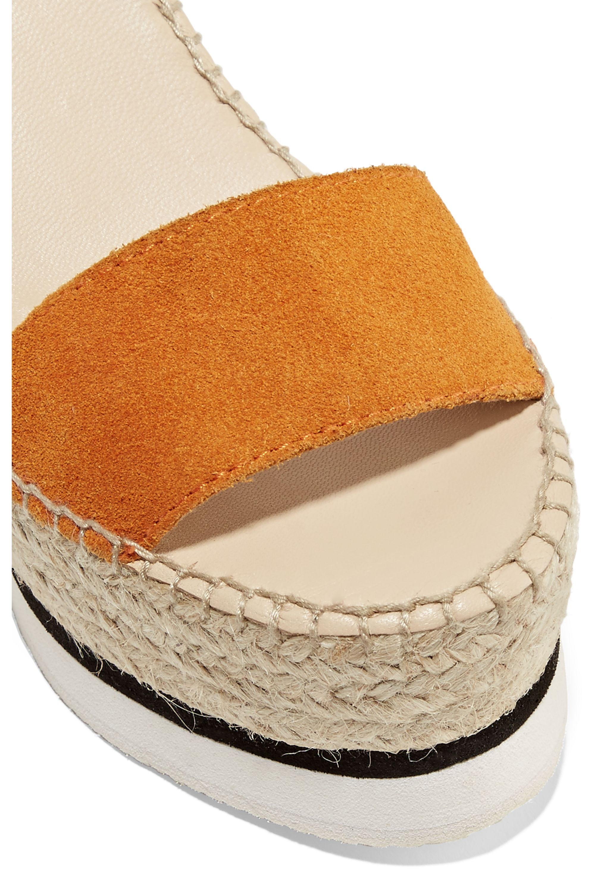 See By Chloé Suede and leather espadrille wedge sandals