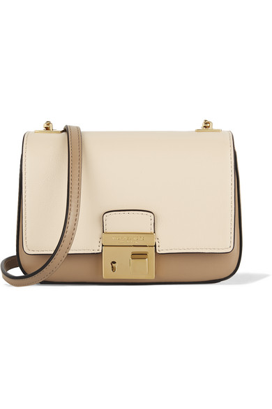 Michael Kors Collection | Gia small two-tone leather shoulder bag ...